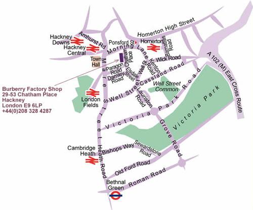 burberry mapa