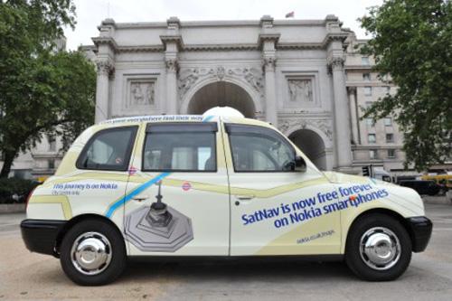 Taxis Nokia en Londres, servicio gratuito