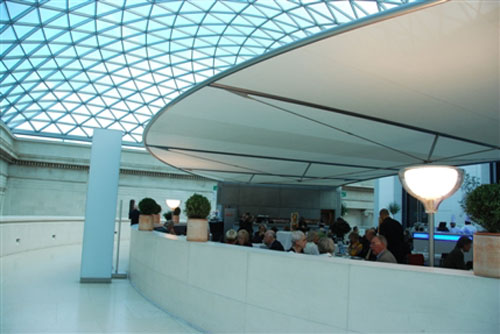 Comer en un museo de Londres