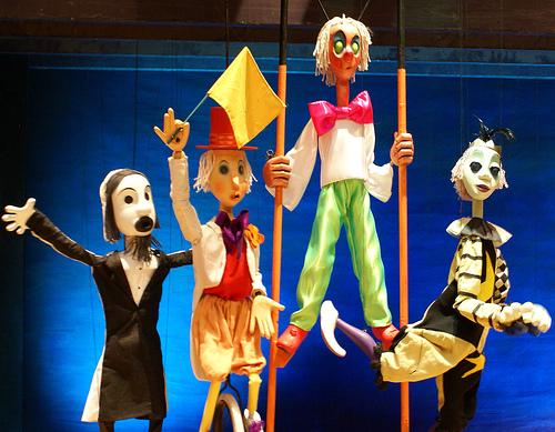 Marionetas del Teatro Pequeño Ángel