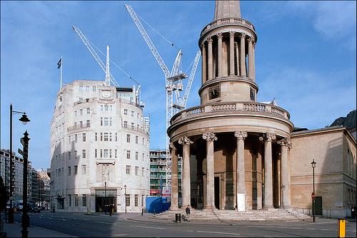 La Iglesia All Souls y los estudios de la BBC